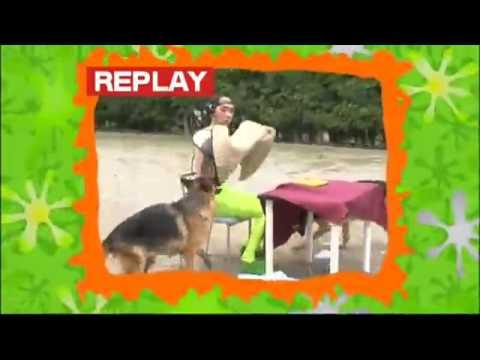 【ハンバーガー完食できるか対決!】 エガチャンvs警察犬