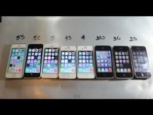 歴代iPhoneスピード対決!